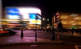 A night view of the Piccadilly Circus in London stock photography