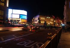 A night view of the Piccadilly Circus in London Royalty Free Stock Photography