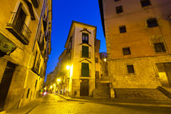 Night view of picturesque narrow street Royalty Free Stock Photos