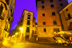 Night view of picturesque old square Royalty Free Stock Image