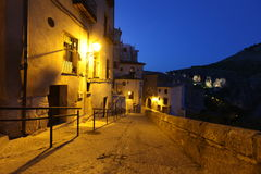 Night view of picturesque old square in Cuenca Stock Photography