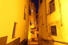 Night view of picturesque old street in Cuenca. Spain Stock Photos