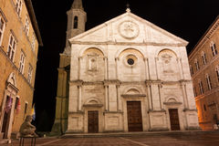 A night view of Pienza, Italy Royalty Free Stock Photos