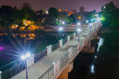 Night view Ping River Chiang Mai. Royalty Free Stock Image