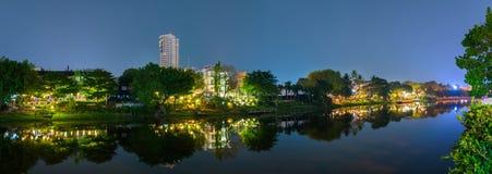 Night view Ping River Chiang Mai. Royalty Free Stock Photo