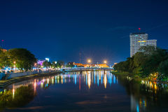 Night view Ping River Chiang Mai,Chiangmai,Thailand Royalty Free Stock Photography