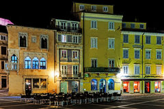 Night view of Piran Stock Images