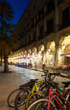 Night view of Placa Reial in  Barcelona Royalty Free Stock Photo