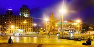 Night view of Plaza de Espana Royalty Free Stock Photography
