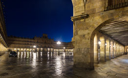 Night view of Plaza Mayor Royalty Free Stock Images