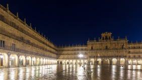 Night view of Plaza Mayor  in  Salamanca Royalty Free Stock Photo