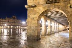 Night view of Plaza Mayor. Salamanca Royalty Free Stock Image