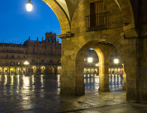 Night view of Plaza Mayor  in  Salamanca. Spain Royalty Free Stock Photography