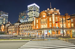 Night view point in Tokyo Station. Stock Photos