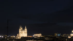 Night view of the Pontifical University of Salamanca Royalty Free Stock Photography