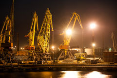 Night view of port Royalty Free Stock Images