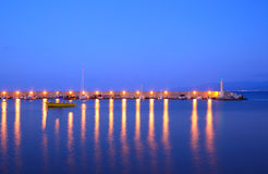 Night view of port Royalty Free Stock Photos
