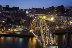 Night view of Porto (Portugal) Royalty Free Stock Photo