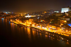 Night view of Porto, Portugal Royalty Free Stock Photo