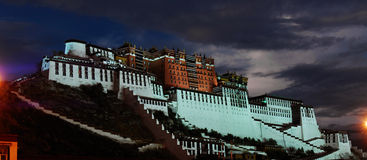 Night view of Potala Palace Stock Image