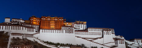 Night view of Potala Palace in Lhasa, Tibet Royalty Free Stock Photography