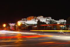 Night view of Potala Palace Royalty Free Stock Photos