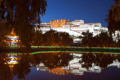 Night view of the Potala Palace Royalty Free Stock Images