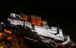 Night View of The Potala Palace Royalty Free Stock Image