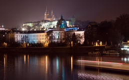 Night view of Prague Royalty Free Stock Image