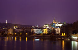 Night view of Prague Stock Images