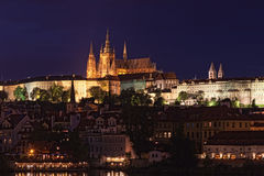 Night view of the Prague Royalty Free Stock Photography