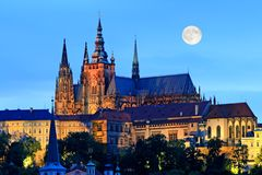 The night view of Prague Stock Photos