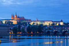 Night view of Prague Royalty Free Stock Images