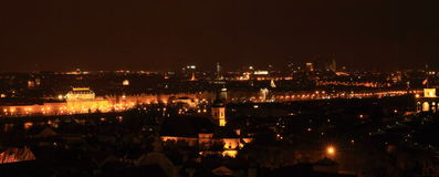 Night view on Prague stock images
