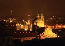 Night view on Prague Royalty Free Stock Photo
