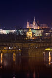 Night view of Prague Castle Stock Photos