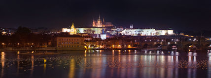 Night view of Prague Castle Stock Photo