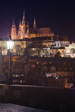 Night view of Prague Castle Royalty Free Stock Photos