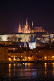 Night view of Prague Castle Stock Images