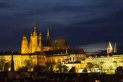 Night view of Prague Stock Photography