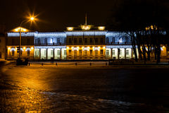 Night view of the Presidential Palace in Vilnius, Lithuania Royalty Free Stock Image