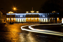 Night view of the Presidential Palace in Vilnius, Lithuania. Stock Image