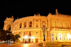 Night view of public opera and ballet theater in Odessa Stock Photo