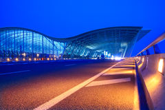 Night view of the pudong airport IN SHANSHAI Stock Photography