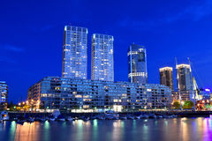 Night view of Puerto Madero, Buenos Aires. Stock Photos