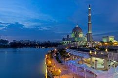 Night view of Putrajaya Mosque Stock Photos