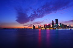 Night view of Qingdao Stock Photography