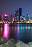 Night view in Qingdao of China Royalty Free Stock Photo