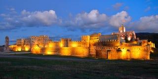 Fortress Rabat in Akhaltsikhe, Georgia. Night view of Rabati castles, fortress in Akhaltsikhe, Georgia royalty free stock photos