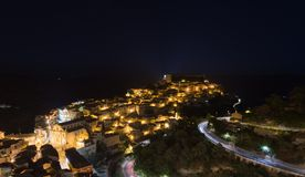 Night view of Ragusa Ibla old town royalty free stock image